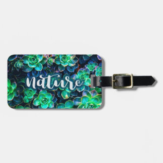 Nature Green Succulent Photo Luggage Tag