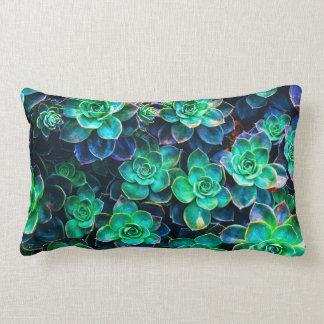 Nature Green Succulent Photo Lumbar Pillow