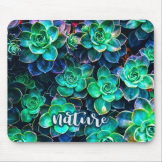Nature Green Succulent Photo Mouse Pad