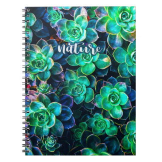 Nature Green Succulent Photo Notebook