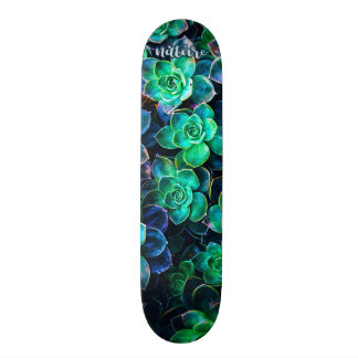 Nature Green Succulent Photo Skateboard Deck