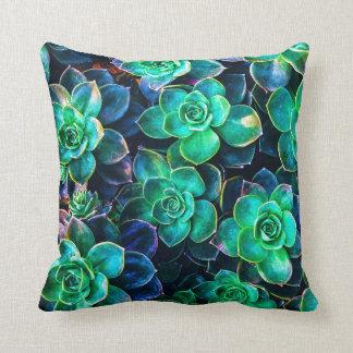 Nature Green Succulent Photo Throw Pillow