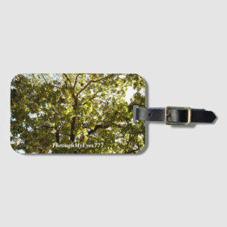 Nature Green Tree in Sunlight Luggage Tag