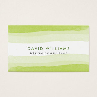 Nature Green Watercolor Splatter Cute Artist Beach Business Card