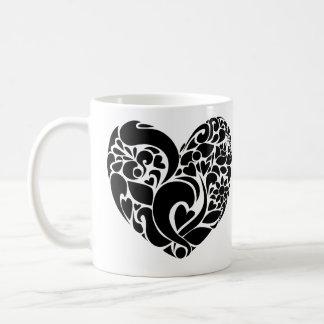 Nature heart design coffee mug