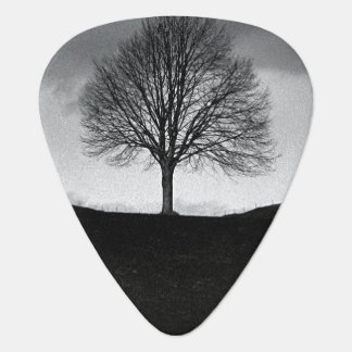 Nature in black and white guitar pick