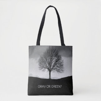 Nature in black and white tote bag