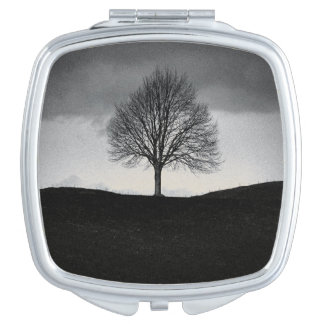 Nature in black and white travel mirrors