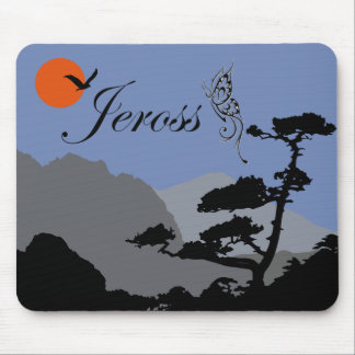 nature in silhouette mouse pad