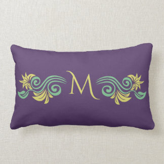 Nature-Inspired custom monogram throw pillows