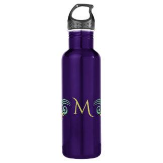 Nature-Inspired custom monogram water bottles