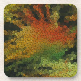 Nature inspired mosaic coaster