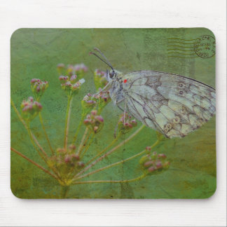 Nature Inspired Moth on a Flower Mousepad
