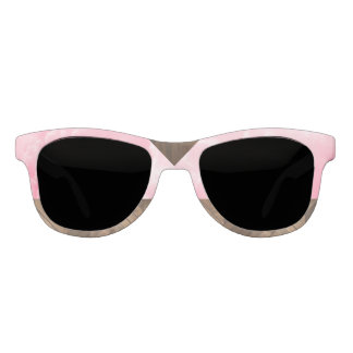 Nature Inspired Pink Clouds and Wood Sunglasses