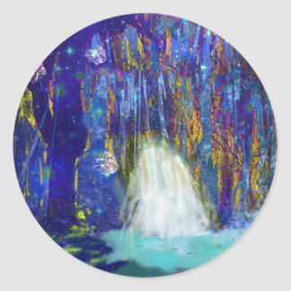 Nature is a fairy tale classic round sticker