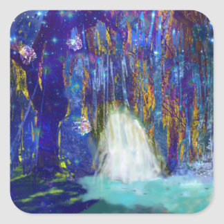 Nature is a fairy tale square sticker