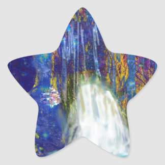 Nature is a fairy tale star sticker