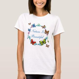 Nature is Beautiful Butterflies &  Flowers T-shirt