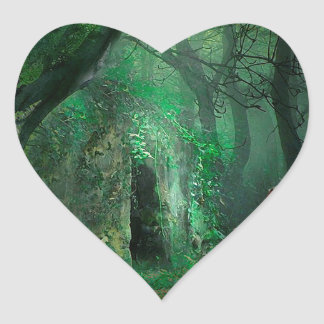 NATURE IS HER ADORNMENT HEART STICKER