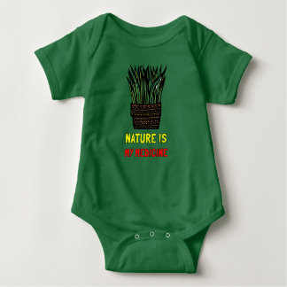 """Nature is My Medicine"" Baby Jersey Bodysuit"
