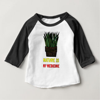 """Nature is My Medicine"" Baby Raglan Shirt"