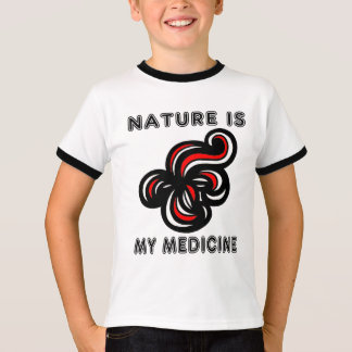 """Nature is My Medicine"" Boys Ringer TShirt"