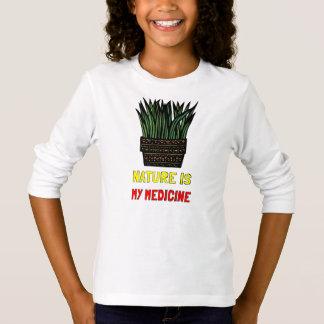 """Nature is My Medicine"" Girls' Long Sleeve T-Shirt"