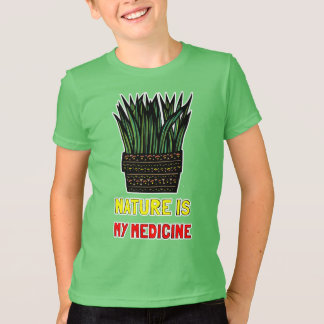 """""""Nature is My Medicine"""" Kids' American Apparel T-S T-Shirt"""