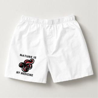 """Nature is My Medicine"" Men's Boxercraft Cotton Bo Boxers"