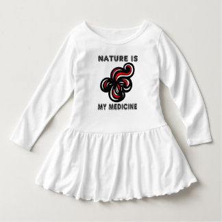 """Nature is My Medicine"" Toddler Ruffle Dress"