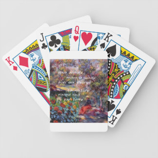 Nature is powerful in art creation bicycle playing cards