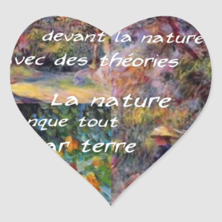 Nature is powerful in art creation heart sticker