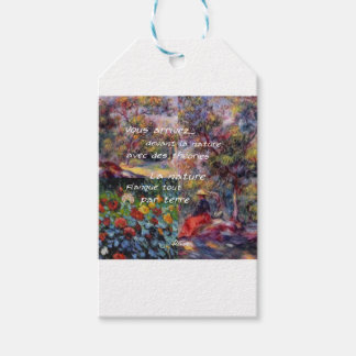 Nature is powerful in art creation pack of gift tags
