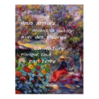 Nature is powerful in art creation postcard