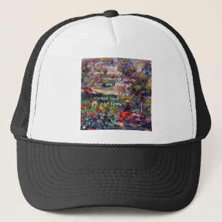 Nature is powerful in art creation trucker hat