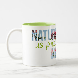 """Nature is pretty Neat"" Green Interior Mug"