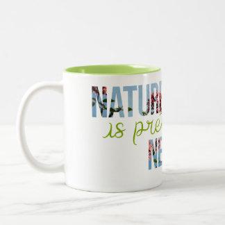 """Nature is pretty Neat"" Green Interior Mug"