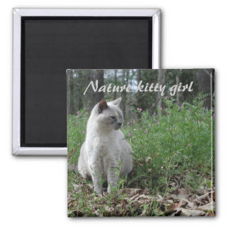 Nature kitty girl magnet