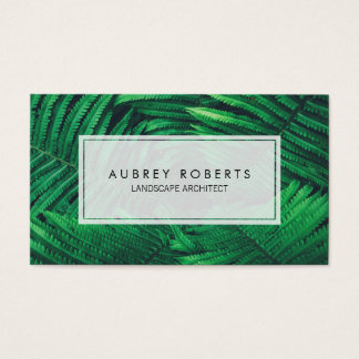 Nature Landscape Architect Tropical Fern Plants Business Card