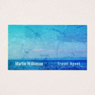 Nature landscape sea ocean blue image business card