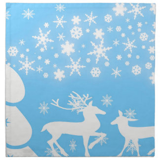 Nature  Landscapes  Seasons Winter Snowflake Deer Printed Napkin