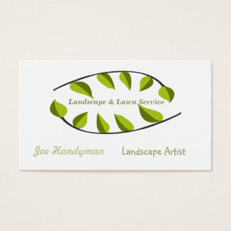 Nature Landscaping Green Circles Business Card