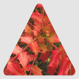 Nature Leaf Landscapes Seasons Autumn Triangle Sticker