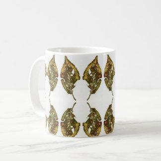 Nature Leaf Print multiple beecch leaf worm eaten Coffee Mug