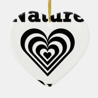 Nature Lover design Ceramic Ornament