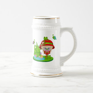 Nature Lover Frog Faery Beer Stein
