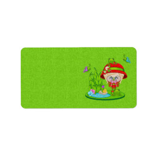 Nature Lover Frog Faery Label