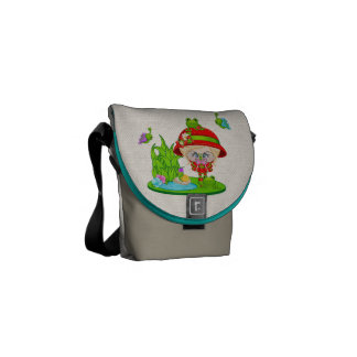 Nature Lover Frog Faery Courier Bags