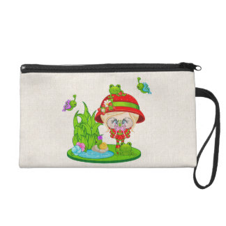 Nature Lover Frog Faery Wristlet Purse
