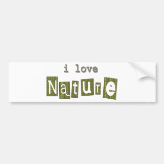 Nature Lover Gifts! Bumper Stickers